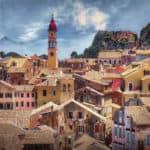 The island of Corfu in Greece